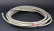 4 AN Braided Stainless Steel Hose 1500 PSI  Turbo Oil Feed Fuel Gas  Line