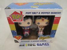 FUNKO POP ! HOME SUPERMAN & WONDER WOMAN SALIERE & POIVRIERE (vendeur pro)