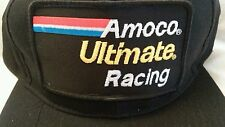 Vintage Amoco Ultimate Embroidered Racing Hat Trucker Cap NWOT Nascar Indy