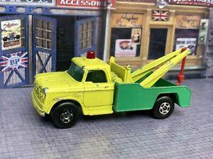 1965 Lesney Matchbox Series Superfast BP Dodge Wreck/Wrecker Truck #13 With Hook
