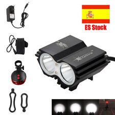 Recargable 10000Lm 2x U2 LED Frontal Bicicleta Lampara Linterna Faro Luz 4*18650