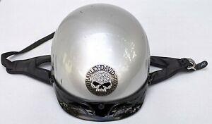 Womens Harley Davidson Silver Skull Bling Willie G Gemz Helmet Medium MD 57-58cm