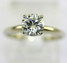 White Round SI2 Fine Diamond Rings