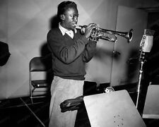 8x10 Print Miles Davis Studio Session Jazz Trumpeter Bandleader 1951 #Md11