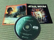 JOHN WILLIAMS STAR WARS EPISODE 1 CD SPAIN POSTER SLEEVE PHANTOM MENACE
