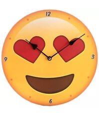 emoji heart eyes Love emoji wall clock round battery 30cm clock Home Office Deco