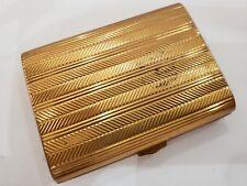 Vintage GOLD TONE / SMALL  Cigarette Case.    3 X 2 1/4
