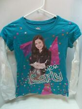 iCarly Long-Sleeve Tee Shirt Girls Size 10/12 Nickelodeon