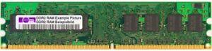 1GB Micron DDR2-667 RAM PC2-5300U CL5 MT8HTF12864AY-667G1 1Rx8 Desktop Memory