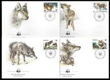 POLAND 1985 FDC, WWF, CANIS LUPUS, Wild Endangered Animals