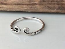Norse Viking Celtic Designed Adjustable Ring Sterling Silver S925 Size 9 R1/2