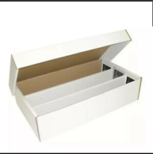 BCW 3000 Count Super Shoe Cardboard Baseball Trading Card Topload Storage Boxes