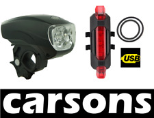 front & rear five led lights kit - head mountain bike torch flash lamp CARSONS