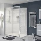 Sliding Beloya 2 panel Clear Shower Door (W)1400mm by GoodHome