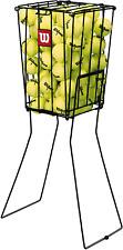 Tennis Ball Portable Basket Pick Up Hopper Holds 75 Balls Compact Storage Holder