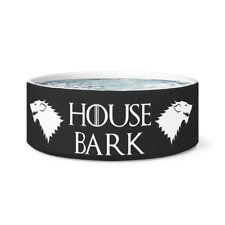 House Of Bark - Ceramic Dog Bowl - Cute Dog Bowls - Inspired by Game of thrones
