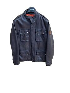 Redskins, Luciano Omega Leather Jacket Brown Mens