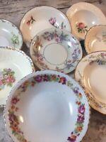 8 - Vintage Mismatched China Fruit Dessert Bowls Wedding Hatter boho pinks # 85