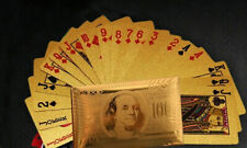 Gold Foil Waterproof Plastic Playing Poker Deck Game Cards,Benjamin Franklin