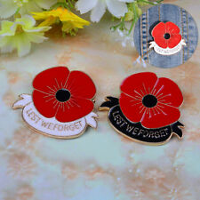 pin broach badge banquet g Ras Enamel remembrance brooch red poppy flower lapel