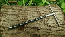 Mini Scotch Eyed T Auger For Prepper Bushcraft & Survival Trapping 550 Paracord
