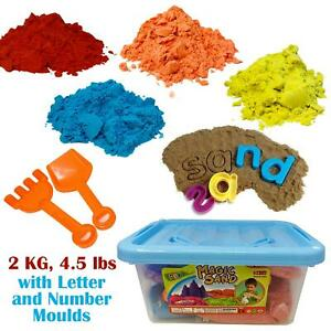Play sand Kids 2KG Motion Colored  Sand Educational Molds and Accessories