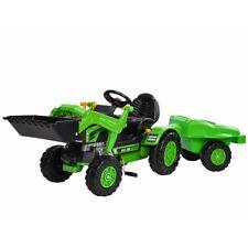 BIG BIG-Jim-Loader Trailer Kinderfahrzeug grün/schwarz Traktor mit Anhänger