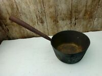 Vintage 6.5 Inch Brass Stove Pan With Iron Handle
