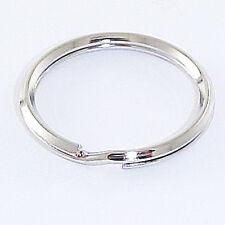 "1-1/4"" Split Key Ring Beveled Nickel Plated 10 Pack"