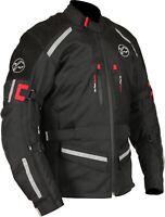 Buffalo Men's Horizon Jacket Waterproof Leather Textile Motorcycle Jacket NEW