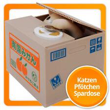 """Katzen-Pfötchen Sparschwein Itazura elektrische Spardose """"Katze in der Kiste"""""""