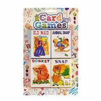 4 Packs Children's Kids Fun Card Games Donkey Snap Ideal for Party Loot Bag