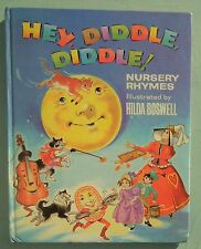 HEY DIDDLE DIDDLE NURSERY RHYMES HILDA BOSWELL 60s 70s vintage children's book