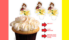x24 belle top half beauty beast wafer paper stand up cup cake toppers PRE-CUT