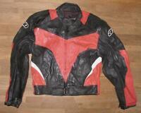 """ AXO "" Herren- Motorrad - Kombi- Lederjacke / Biker- Jacke in ca. Gr. 52"