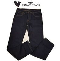 "AJ Armani Jeans Mens Dark Navy Blue 30-38"" All Waist New BNWT Free P&P J45 Style"