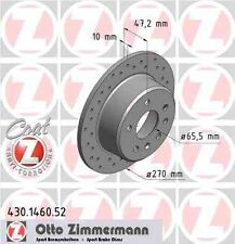 Disque de frein arriere ZIMMERMANN PERCE 430.1460.52  OPEL OMEGA A 1.8 S 90ch 16
