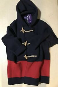 NWT$2995 Ralph Lauren Purple Label Men  Cardigan Sweater Jacket Navy/Red XXL Ita