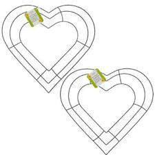 """12"""" Heart Shaped Metal Wire Wreath Frame (2 per package)"""