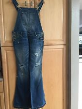 NWT NEW TRUE RELIGION JEANS KARLIE OVERALL DISTRESSED DESTROYED women sz 28 $299