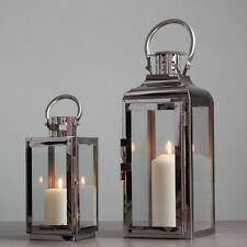 Elegant Modern Metallic Stainless Steel Tea Light Candle Holder Lantern Home