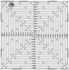 "Creative Grids 14 1/2"" Square It Up or Fussy Cut Square Sewing & Quilting Ruler"