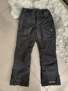 COLUMBIA SKI SNOWBOARDING PADDED TECH  TROUSERS SALOPETTES BLACKNSIZE S 28-32 W