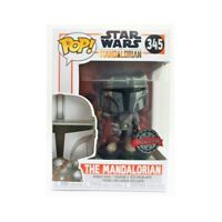 THE MANDALORIAN Star Wars Chrome Exclusive Funko POP! #345 NEW