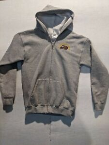 UPS United Parcel Service hooded zip up sweatshirt Youth L Large Gray
