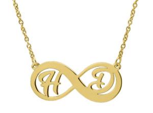 Unendlich Namenskette aus 925/- Sterling Silber - Infinity - Wunschname