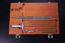 Brown Amp Sharpe Depth Gage Micrometer 0 6 Range 001 Grads With Case