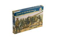 Italeri 1:72 - 6165, Italienische Kanone 149/40 Kolonne, 9 Fig, Kanone, Modell