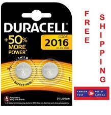 Duracell 3V Coin Cell Button 2016 Lithium Batteries Cr2016 Br/Dl2016 (Pack of 2)