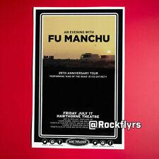 Fu Manchu 2015 Original 11x17 Concert Street Poster. Portland Oregon.